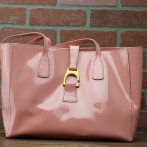 Dooney & Bourke Patent Leather Shannon Tote-Pink